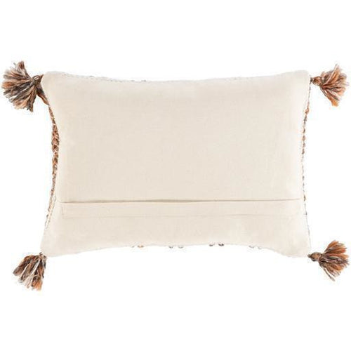 "Surya Dacia DCA-002 Wool Global Pillow-Pillows-Surya-Cream-13"" x 20"" Pillow-Heaven's Gate Home"