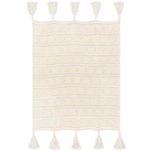 "Surya Dallan DLN-1000 Woven 100% Cotton Throw-Throws-Surya-White-50"" x 60"" Throw-Heaven's Gate Home"