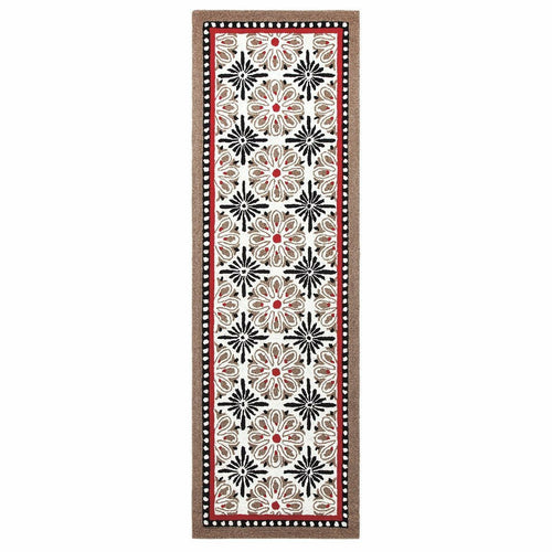 Company C Carreaux 100% Wool Hand Hooked Rug, Black-Rugs-Company C-3' x 8' Runner-Heaven's Gate Home