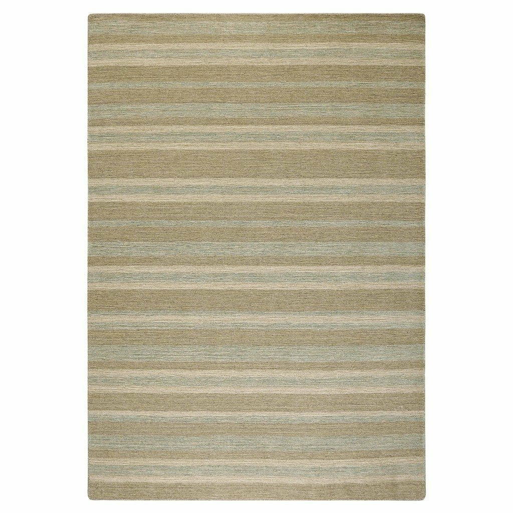 Colorfields Driftwood Stripe Rug, Aqua-Rugs-Colorfields by Company C-2