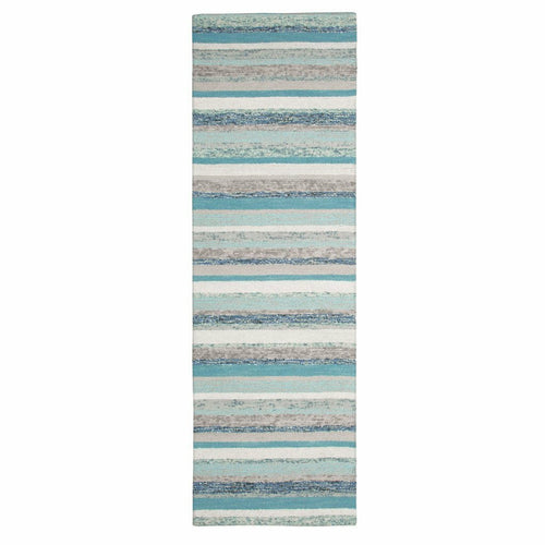 Company C Fairfield Wool Hand Tufted Rug, Blue-Rugs-Company C-3' x 8' Runner-Heaven's Gate Home