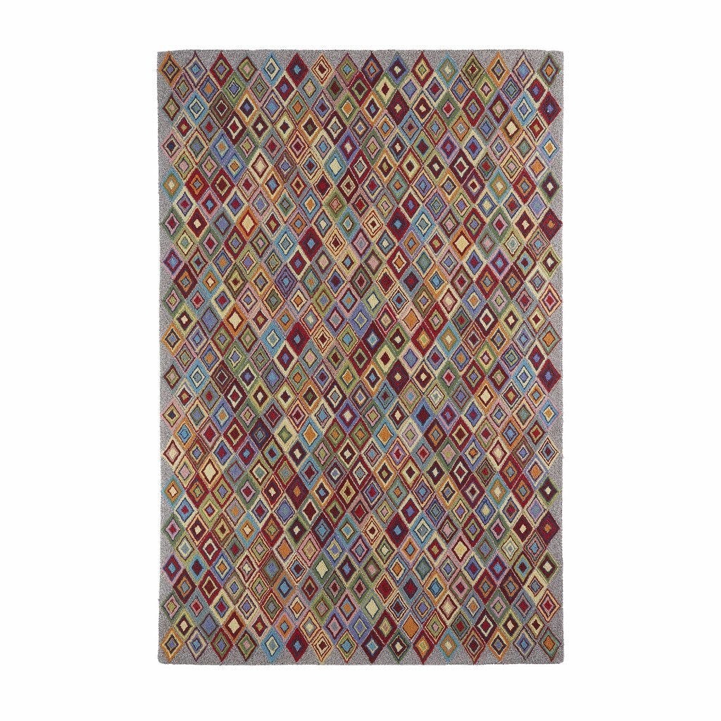 Colorfields Argyle 100% Wool Geometric Rug-Rugs-Colorfields by Company C-2