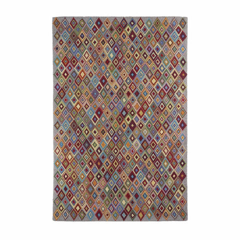 Colorfields Argyle 100% Wool Geometric Rug