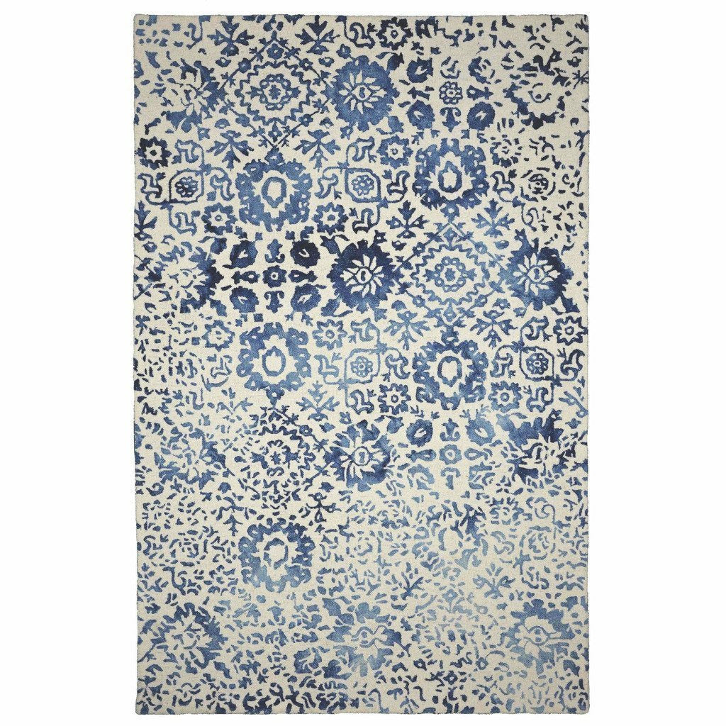 Colorfields Batik Rug, Blue-Rugs-Colorfields by Company C-2