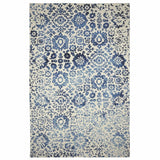 Colorfields Batik Rug, Blue-Rugs-Colorfields by Company C-2' x 3'-Heaven's Gate Home