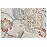 Colorfields Hana Hand Tufted Floral Wool Rug, Platinum-Rugs-Colorfields by Company C-2' x 3'-Heaven's Gate Home