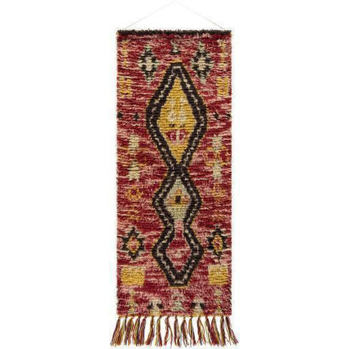 "Surya Dirham DRH-1000 Hand-Woven Wall Hanging-Wall Hangings-Surya-63"" x 24""-Red-Heaven's Gate Home"