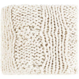 Surya Denton DTO-1000 Hand Knitted Throw-Throws-Surya-Ivory-50