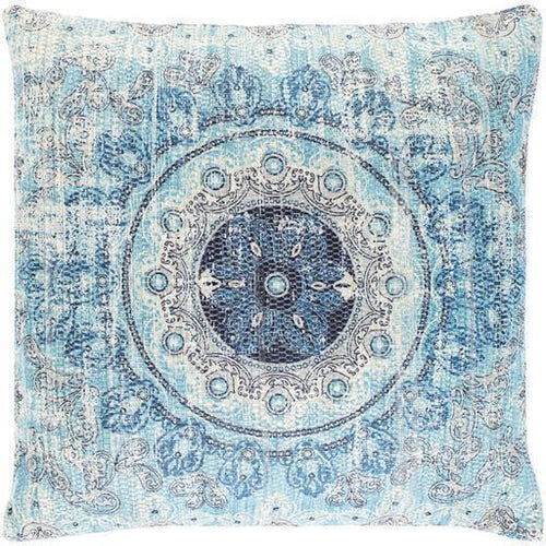 "Surya Devonshire DVS-008 Polyester Global Pillow-Pillows-Surya-Aqua-26"" x 26"" Pillow-Heaven's Gate Home"
