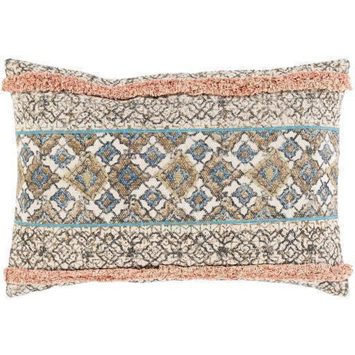 "Surya Dayna DYA-004 Cotton Global Pillow, Set/2-Pillows-Surya-Tan-16"" x 24"" Pillow, Set/2-Heaven's Gate Home, LLC"