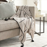 Surya Fleck Knitted 100% Cotton Throw With Tassels-Throws-Surya-Heaven's Gate Home