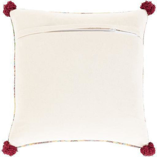 "Surya Francesca FNE-001 Cotton Global Pillow, Set/2-Pillows-Surya-Khaki-20"" x 20"" Pillow, Set/2-Heaven's Gate Home, LLC"