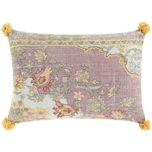 "Surya Francesca FNE-002 Cotton Global Pillow, Set/2-Pillows-Surya-Pink-16"" x 24"" Pillow, Set/2-Heaven's Gate Home, LLC"
