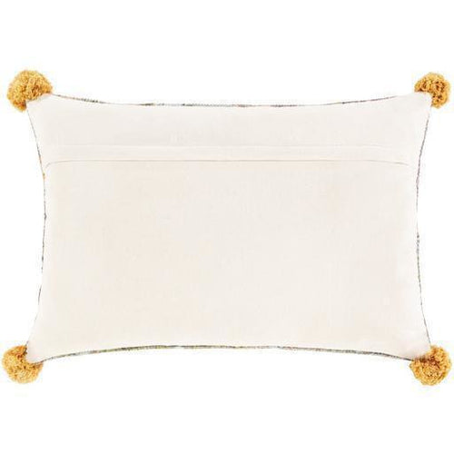 "Surya Francesca FNE-002 Cotton Global Pillow-Pillows-Surya-Pink-16"" x 24"" Pillow-Heaven's Gate Home"