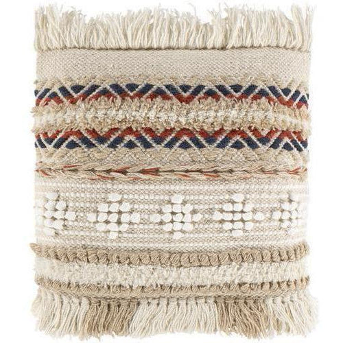 "Surya Freya FYA-002 Wool Global Pillow-Pillows-Surya-Beige-18"" x 18"" Pillow-Heaven's Gate Home"