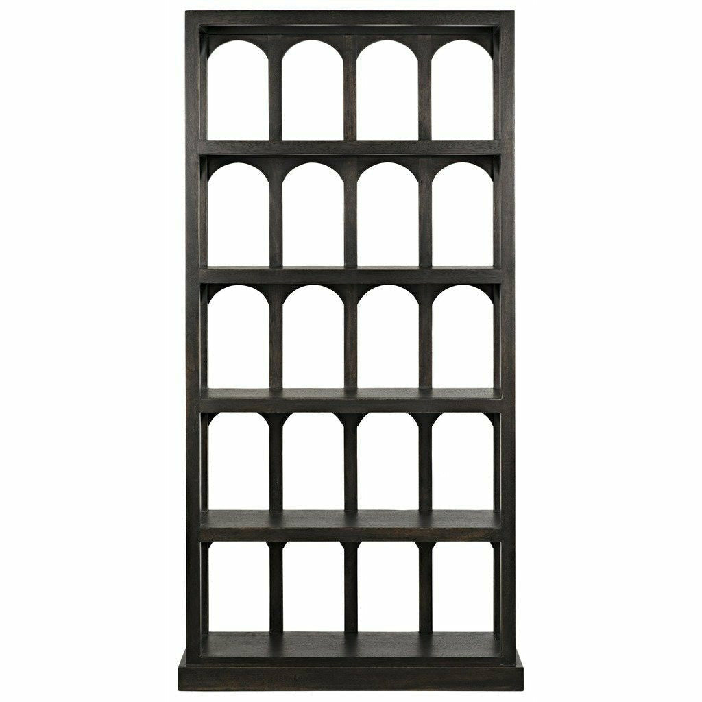 Noir Passage Bookcase, Ebony Walnut