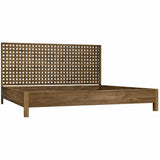 Noir Quinnton Teak Bed, Eastern King