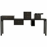 Noir Camille Walnut Sideboard, Ebony Walnut