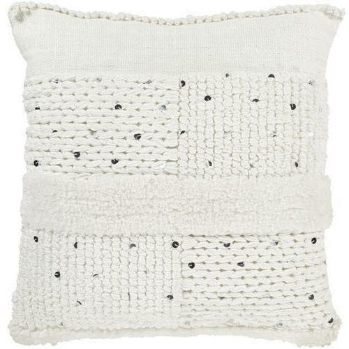 "Surya Handira HDR-002 Microfiber Global Pillow, Set/2-Pillows-Surya-White-18"" x 18"" Pillow, Set/2-Heaven's Gate Home, LLC"