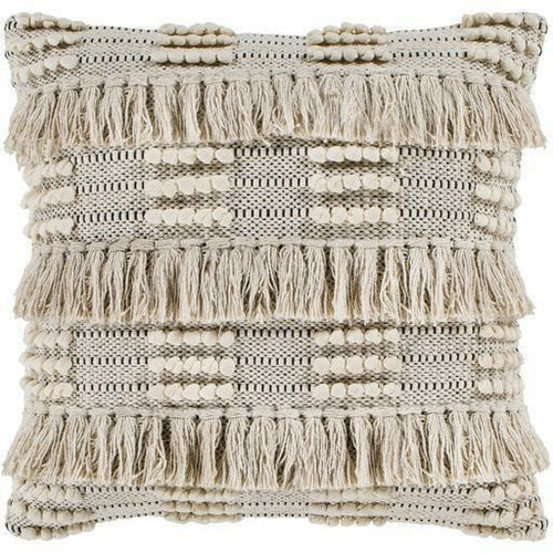 "Surya Helena HNA-001 Cotton Global Pillow-Pillows-Surya-Beige-18"" x 18"" Pillow, Set/2-Heaven's Gate Home, LLC"
