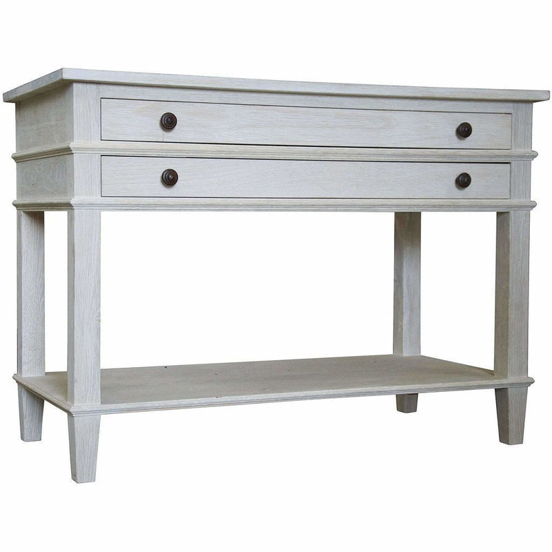CFC Reclaimed 2-Drawer, 1-Shelf Nightstand, Washed Oak *Quick Ship*-Nightstands-CFC-Heaven's Gate Home