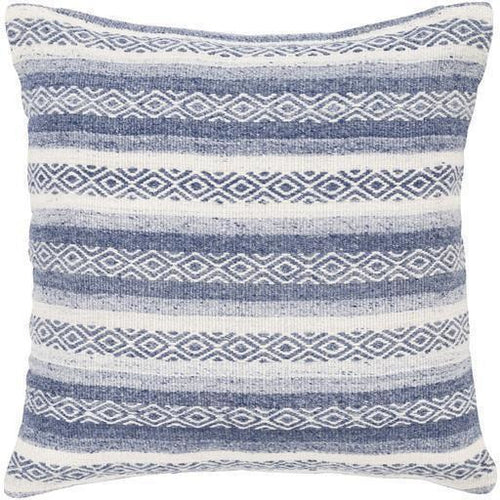 "Surya Isabella IB-003 Viscose Global Pillow-Pillows-Surya-Navy-20"" x 20"" Pillow-Heaven's Gate Home"