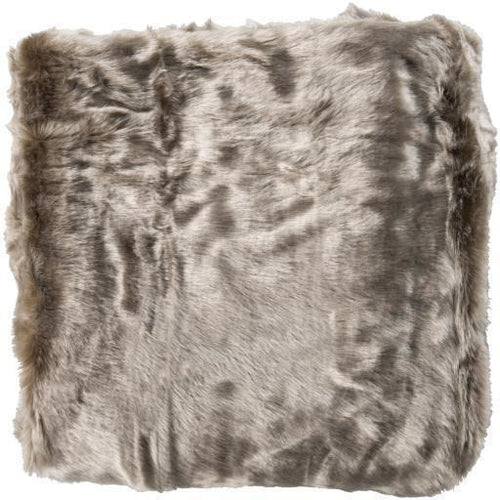 "Surya Innu INN-1000 Acrylic Faux Fur Throw-Throws-Surya-Taupe-50"" x 60"" Throw-Heaven's Gate Home"
