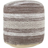 Surya Levi Woven Cotton Pouf-Poufs-Surya-Heaven's Gate Home