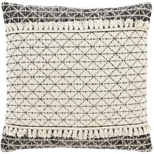 "Surya Justine JTI-001 Cotton Global Pillow-Pillows-Surya-Beige-18"" x 18"" Pillow-Heaven's Gate Home"