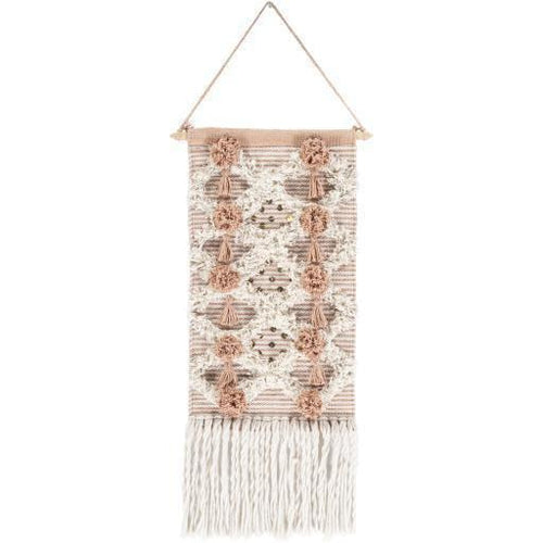 "Surya Kari KAR-1000 Hand-Woven Wall Hanging, Camel-Wall Hangings-Surya-22"" x 14""-Brown-Heaven's Gate Home"