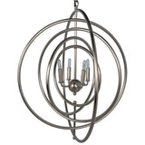 Noir Brooks Pendant, Antique Silver - Heaven's Gate Home & Garden