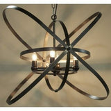 Noir Sassari Spherical Pendant, Black Metal-Pendant Lamps-Noir Furniture-Heaven's Gate Home