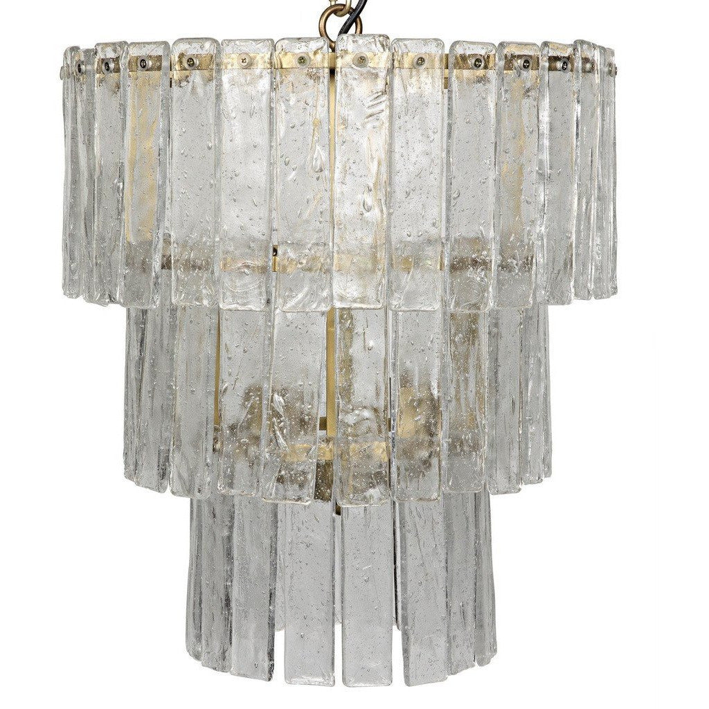 Noir Bruna Chandelier, Small, Antique Brass - Heaven's Gate Home & Garden