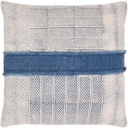 "Surya Lola LL-003 Cotton Global Pillow-Pillows-Surya-Cream-30"" x 30"" Pillow-Heaven's Gate Home"