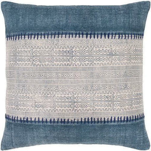 "Surya Lola LL-008 Cotton Global Pillow-Pillows-Surya-Navy-30"" x 30"" Pillow-Heaven's Gate Home"