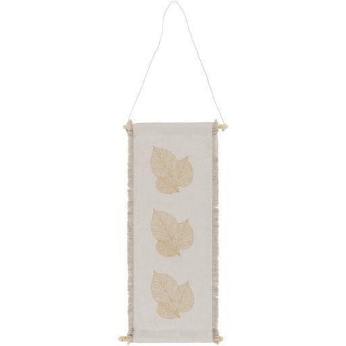 "Surya Leaves LVE-1000 Woven Wall Hanging-Wall Hangings-Surya-30"" x 12""-Ivory-Heaven's Gate Home"