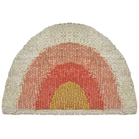Langdon LTD Aquarius Round Doormat- Coral/Peach/Gold