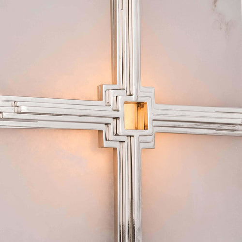 Regina Andrew Gotham Steel Wall Sconce, Polished Nickel