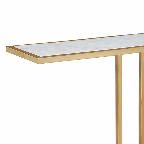 Regina Andrew Echelon Sofa Hugger Table, Natural Brass-Sofas-Regina Andrew-Heaven's Gate Home