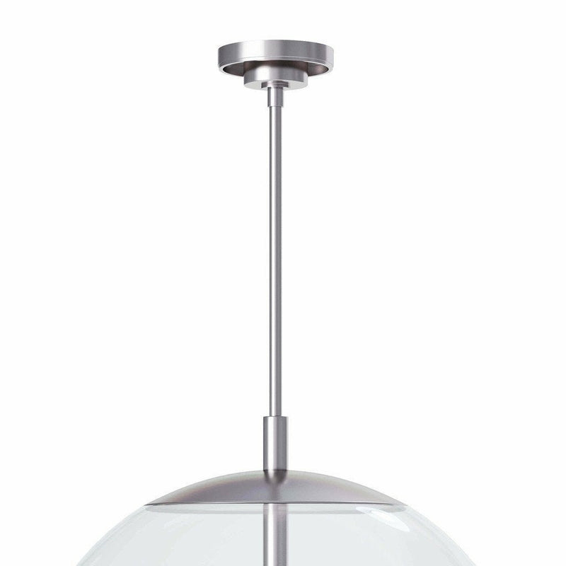 Coastal Living Cafe Pendant Large, Polished Nickel-Pendant Lamps-Coastal Living-Heaven's Gate Home