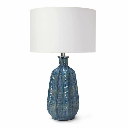 Regina Andrew Antigua Ceramic Table Lamp, Blue-Table Lamps-Regina Andrew-Heaven's Gate Home, LLC