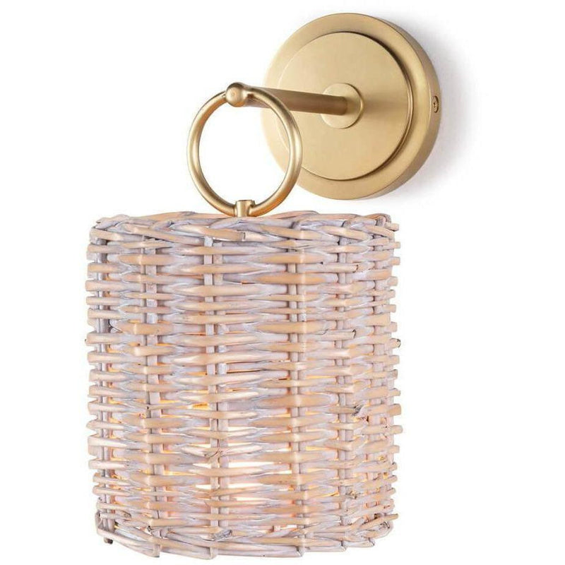 Regina Andrew Nantucket Sconce, Natural Brass-Wall Sconces-Regina Andrew-Heaven's Gate Home