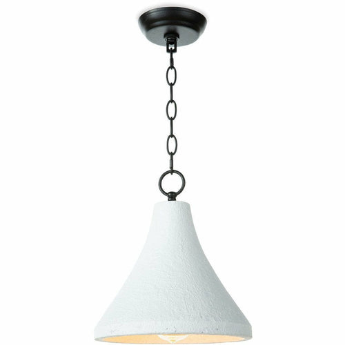 Regina Andrew Billie Concrete Pendant, Small, White-Pendant Lamps-Regina Andrew-Heaven's Gate Home, LLC