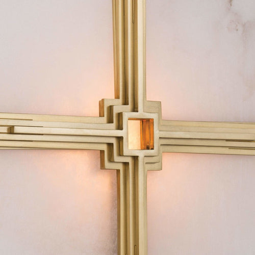 Regina Andrew Gotham Steel Wall Sconce, Natural Brass