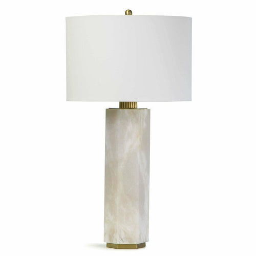 Regina Andrew Gear Alabaster Table Lamp-Table Lamps-Regina Andrew-Heaven's Gate Home