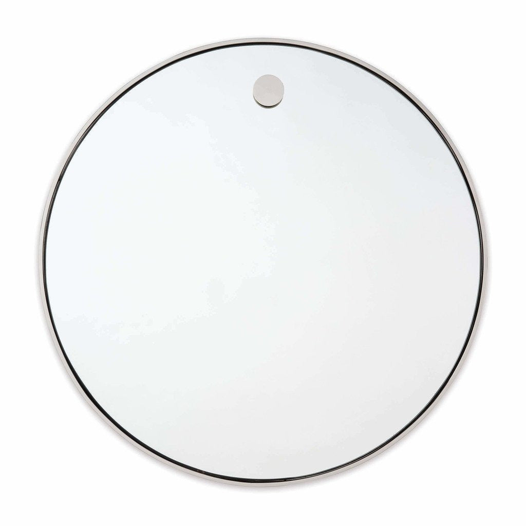 Regina Andrew Hanging Circular Mirror, Polished Nickel-Mirrors-Regina Andrew-Heaven