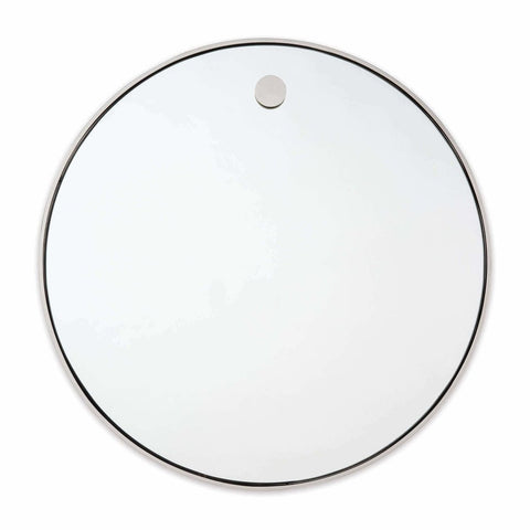 Regina Andrew Hanging Circular Mirror, Polished Nickel
