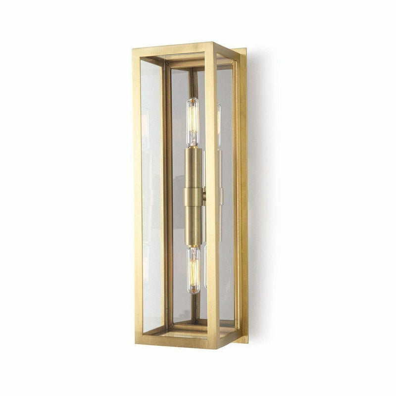 Regina Andrew Ritz Sconce, Natural Brass-Wall Sconces-Regina Andrew-Heaven's Gate Home
