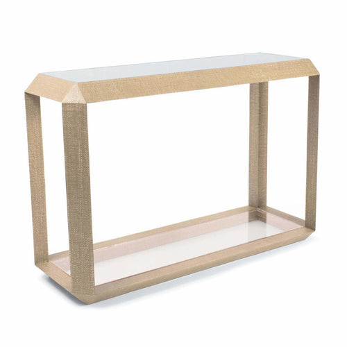 Regina Andrew Aegean Resin Console Table, Natural-Console Tables-Regina Andrew-Heaven's Gate Home, LLC