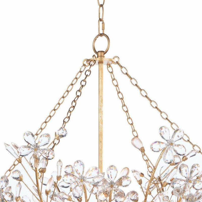 Regina Andrew Cheshire Basin Chandelier, Gold Leaf-Chandeliers-Regina Andrew-Heaven's Gate Home